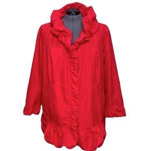 Roman's Plus Size Red Ruffle Jacket Sz 28